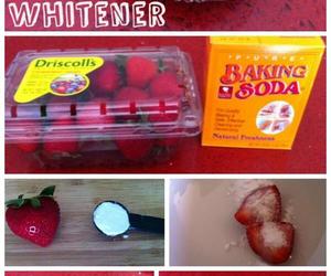 strawberry, diy, and baking soda image