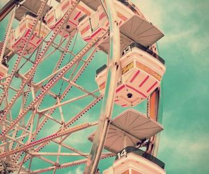 pink, vintage, and sky image