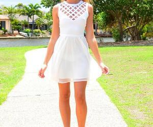 white dress, cute, and kishaaleo image