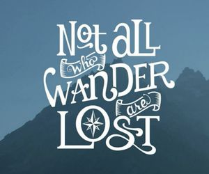 quotes, lost, and wander image