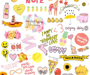 Collage, pink, and yellow image