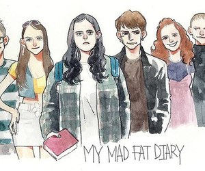 my mad fat diary, finn, and izzy image