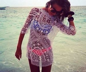 summer, lace, and beach image