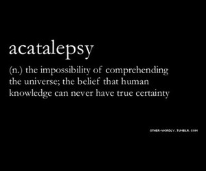 definition, uncertainty, and universe image