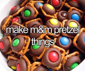 m&m and pretzel image