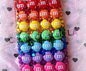 m&m, iphone, and case image