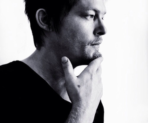 norman reedus, black and white, and love image
