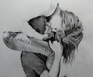 amazing, black and white, and romantic image
