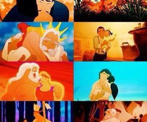 ariel, beauty and the beast, and dad image