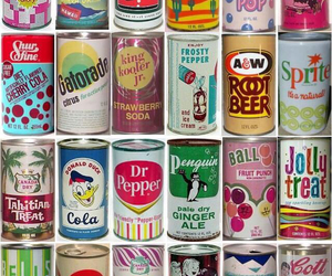 vintage, soda, and can image