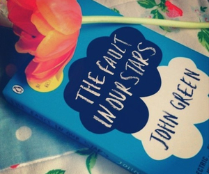 book, the fault in our stars, and flowers image
