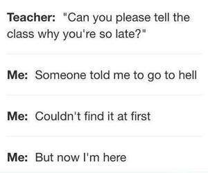 school, hell, and teacher image