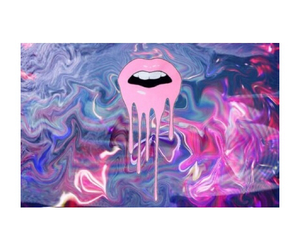 hippie, lips, and trippy image