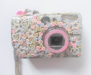 camera, glitter, and goth image