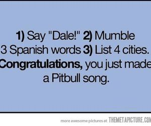 funny, pitbull, and song image