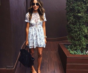 floral dress, spring dress, and summer outfit image