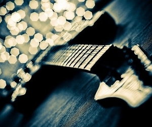 guitar, light, and music image