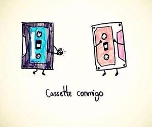 :3, cassete, and love image