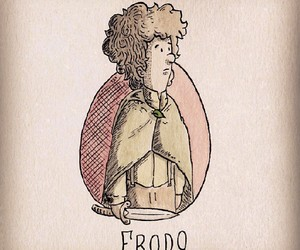 color, drawing, and frodo image