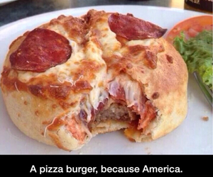 burger, pizza, and america image