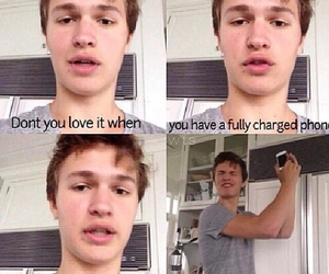 ansel elgort, funny, and the fault in our stars image