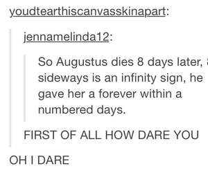 infinity, tumblr, and tfios image