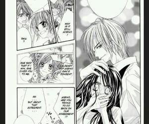 manga, black and white, and couple image