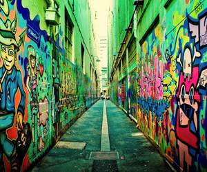 graffiti, colorful, and street image