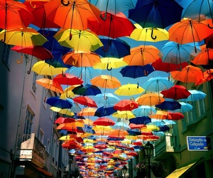 umbrella, colors, and art image