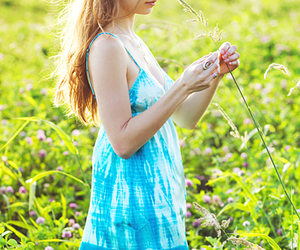 beautiful, blonde, and grass image