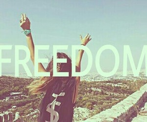 freedom, girl, and love image