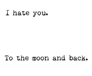 hate, quote, and moon image