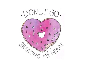 breaking, heart, and donut image