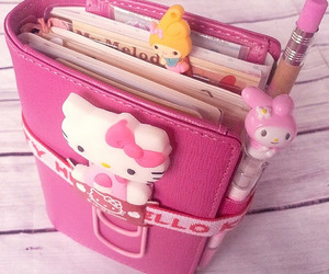 agenda, hello kitty, and pink image