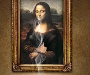 art, mona lisa, and coffee image