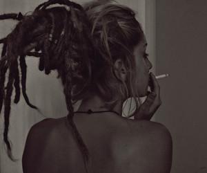 girl, smoke, and dreads image