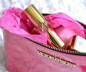 pink, lipstick, and Victoria's Secret image