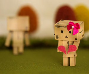 sad, danbo, and heart image