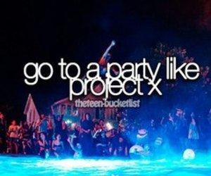 party, project x, and pool image