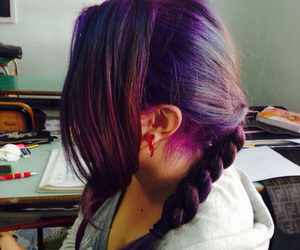 cool, dyed, and girl image