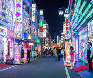 japan, city, and night image