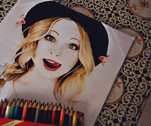 tvd, candice accola, and drawing image