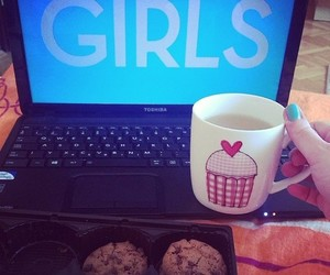 cookie, laptop, and relax image