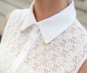 white, fashion, and lace image