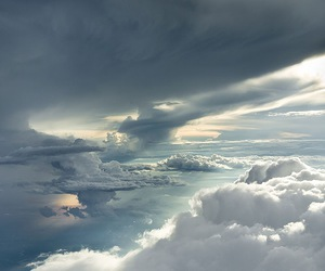 beautiful, white, and clouds image
