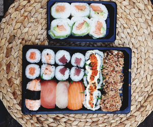 asian, sushi, and sushis image