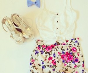 fashion, clothes, and floral image