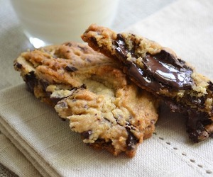 chocolate, cookie, and melted image