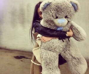 girl, love, and bear image
