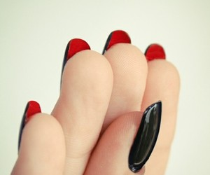 nails, louboutin, and red image